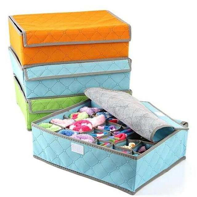 textil / Fibra de carbon Cu Capac Acasă Organizare, 1set Cutii stocare / Coșuri deDepozitare