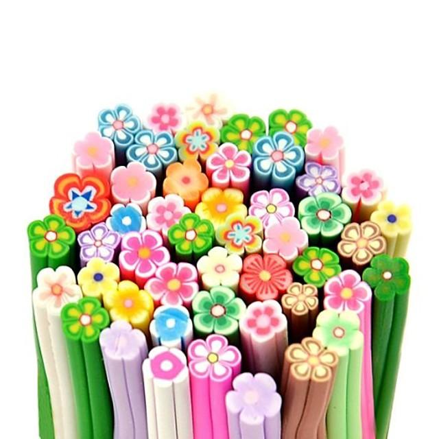 50buc model floare 3d băț de trestie de zahăr tijă autocolant de mixs unghii de culoare decorare artă