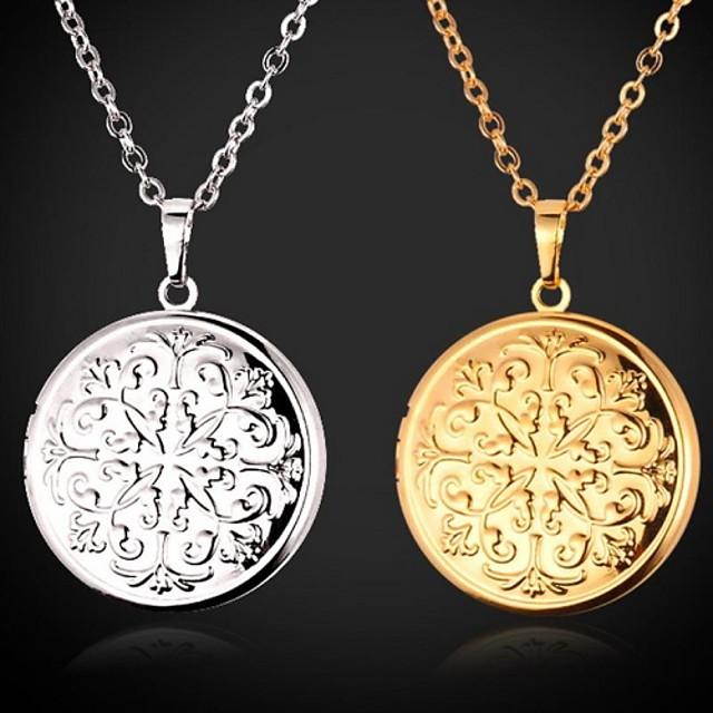 Pentru femei Coliere Choker Coliere cu Pandativ Locket plutitor Camee Gravat femei Modă Articole de ceramică Placat cu platină Placat Auriu Auriu Argintiu Coliere Bijuterii Pentru Nuntă Petrecere