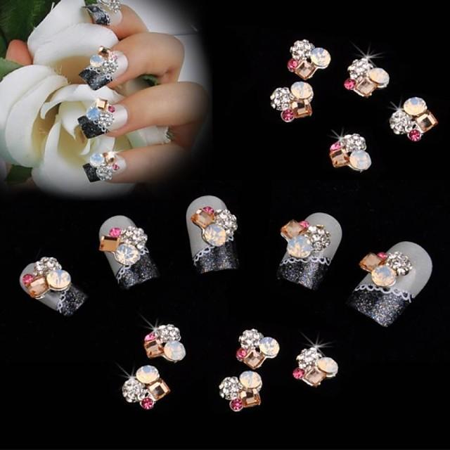 10PCS MetalPistol Floare Clasic Nuntă Zilnic Bijuterie unghii pentru deget deget de la picior