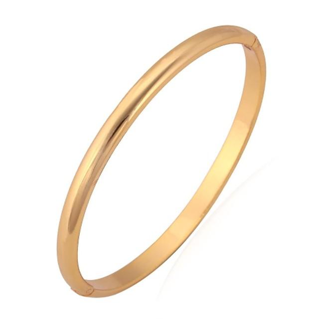 Pentru femei Brățări Bangle Brățară femei De Bază stil minimalist Placat cu platină Bijuterii brățară Auriu / Argintiu Pentru Nuntă Petrecere Zi de Naștere Cadou Zilnic Casual / Placat Auriu