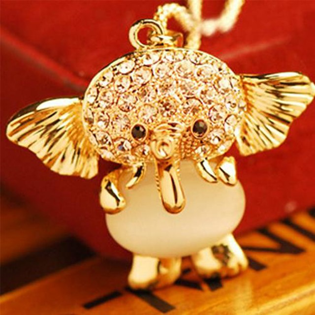 Women's Pendant Necklace Elephant Animal Ladies Casual / Daily Fashion Alloy Gold Necklace Jewelry For