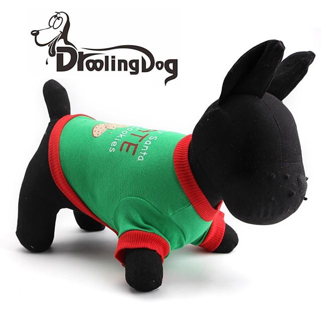 Pisici Câine Tricou Îmbrăcăminte Câini Verde Costume Bumbac XS S M L
