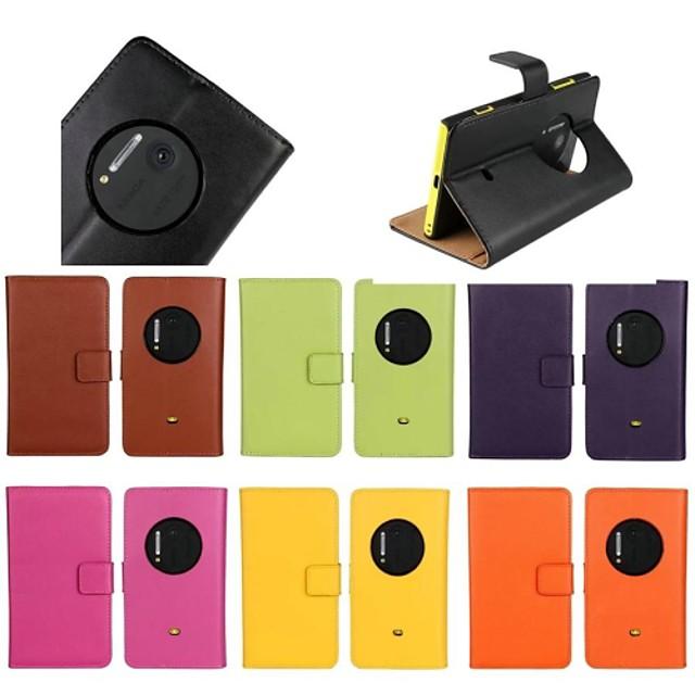 Maska Pentru Nokia Nokia Lumia 1020 Cu Stand Carcasă Telefon Mată Greu Piele autentică