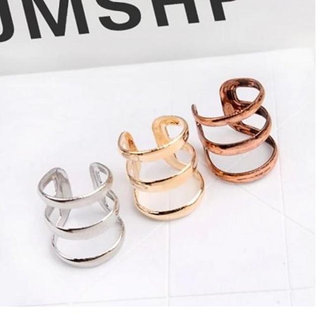 Pentru femei Cătușe pentru urechi Cercei Huggie femei Vintage stil minimalist cercei Bijuterii Bronz / Auriu / Argintiu Pentru Nuntă Petrecere Zilnic Casual