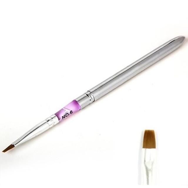 MetalPistol Accesorii pentru unghii Novelty Clasic Cute Stil Zilnic Perie acrilă pentru unghii Unelte de pictura unghiilor pentru Unghie Unghie deget picior Perie Gel