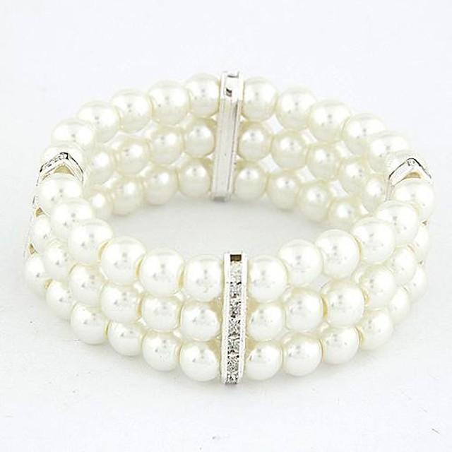 Pentru femei Alb Componentă Aliaj Bijuterii brățară Auriu / Argintiu Pentru Cadouri de Crăciun Zilnic
