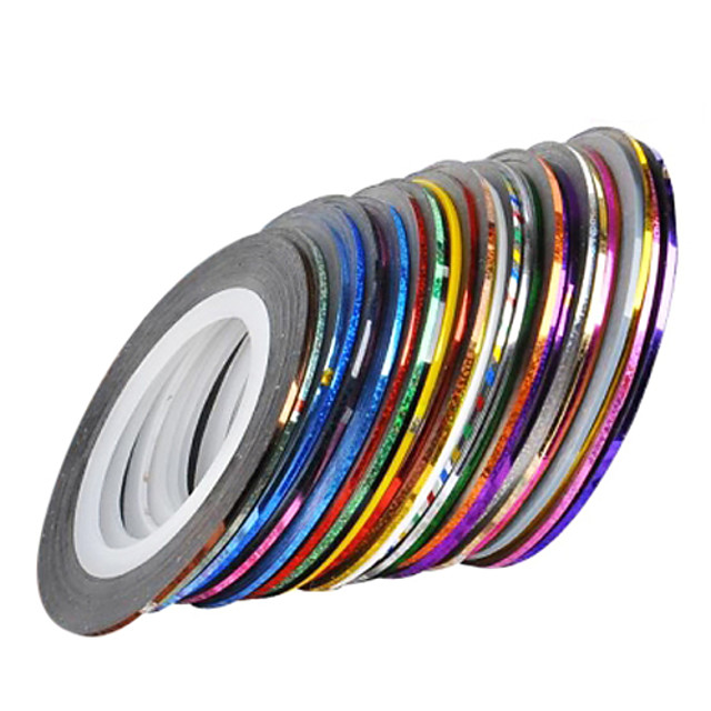 30 pcs Unghii foarfece bandă striping Pentru deget nail art pedichiura si manichiura Zilnic Abstract / Modă / Foil Stripping Tape