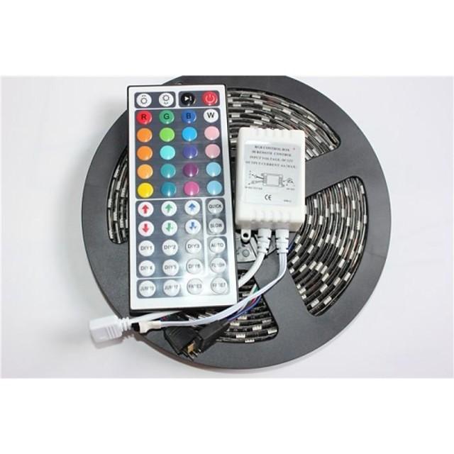 ZDM® 5m Fâșii De Becuri LEd Flexibile / Fâșii RGB 300 LED-uri 5050 SMD 1 44 Controlul telecomenzii RGB Rezistent la apă / Ce poate fi Tăiat / Auto- Adeziv 12 V 1set / IP65