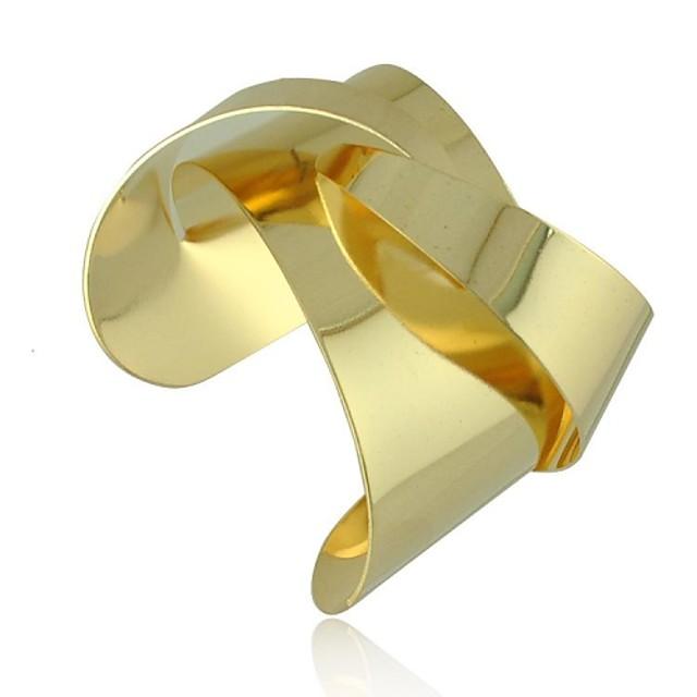 Pentru femei Brățări cu Talismane Brățări Bantă Origami Declarație femei Design Unic Modă Aliaj Bijuterii brățară Auriu / Argintiu Pentru Cadouri de Crăciun Petrecere Zilnic Casual