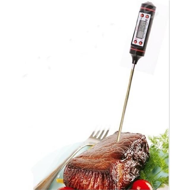 1 buc. Instrument de măsurare din oțel inoxidabil termometru electronic pentru supă de alimente