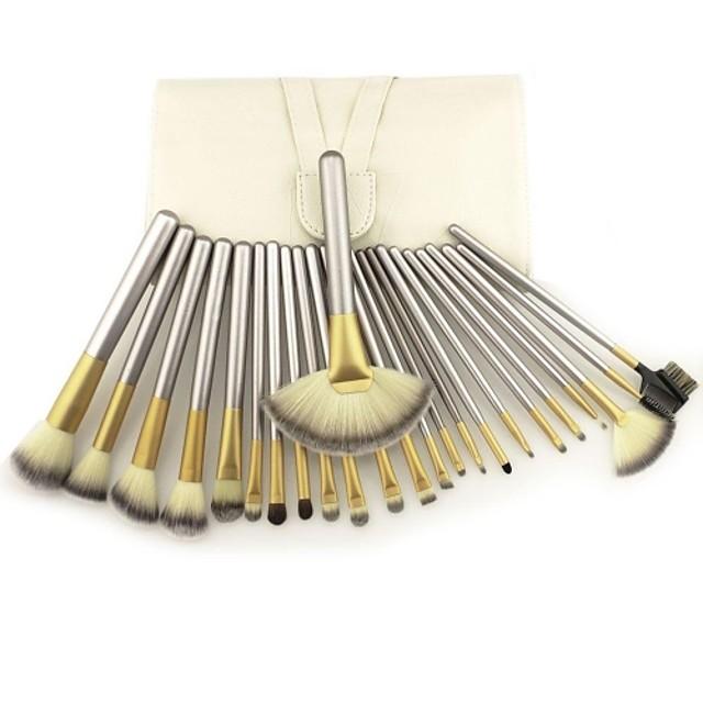 Profesional Machiaj perii Seturi perie 24pcs Perie din Păr de Capră / Păr sintetic / Perie Fibre Artificiale Pensule de Machiaj pentru Set Pensule Machiaj