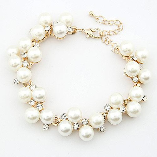 Transparent Alb Brățară femei Perle Bijuterii brățară Alb Pentru Zilnic / Diamante Artificiale