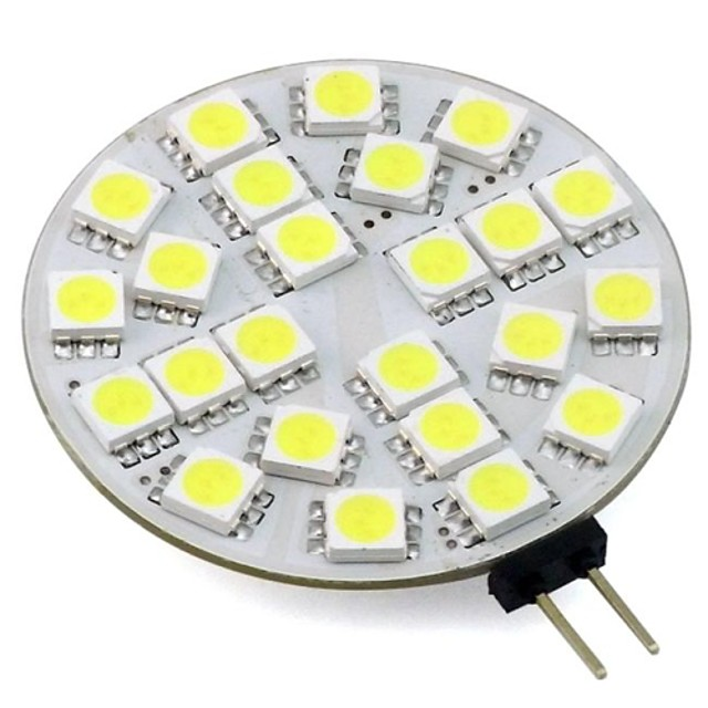 LED à Double Broches 220 lm G4 24 Perles LED SMD 5050 Décorative Blanc Chaud Blanc Froid 12 V 24 V