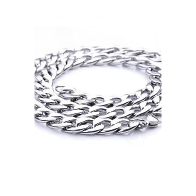 Bărbați Lănțișoare Mariner Chain Oțel titan Argintiu Coliere Bijuterii Pentru Petrecere Zilnic Casual