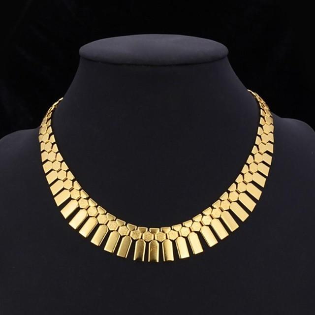 Pentru femei Coliere Choker Guler Vintage Colier Franjuri chunky Declarație femei Ciucure Dubai Placat cu platină Placat Auriu Aur Alb Auriu Argintiu Set de bijuterii din argint 3 buc Set de