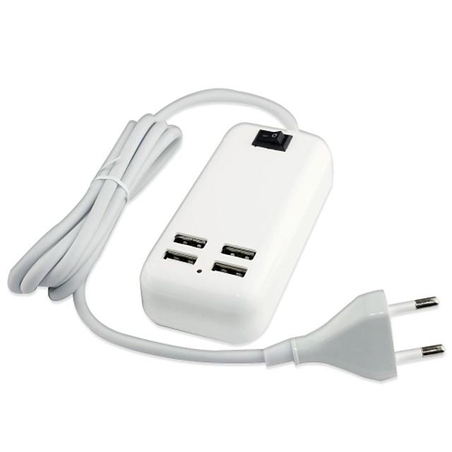 Încărcător Casă Încărcător USB Priză EU Multi-Ieșiri 4 Porturi USB pentru