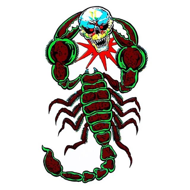 Seria DIY rău lupte scorpion model craniu de design pvc decorare autocolant pentru masina si altele