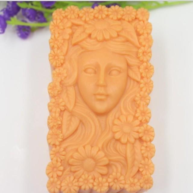 fată frumoasă de floarea-soarelui instrumente tort fondant în formă de decor de ciocolată silicon mucegai tort, l10.1cm * w5.9cm * h4.2cm