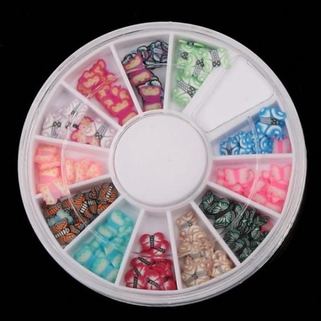 1 pcs Încântător Bijuterie unghii Artă unghii polimerice Pentru deget nail art pedichiura si manichiura Fructe / Unghiul de bijuterii