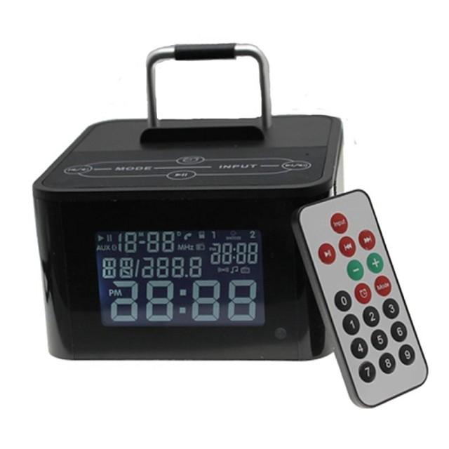 Tipul de bază difuzor Bluetooth fără fir cu microfon TF fm ceas USB pentru iPhone + telefon mobil compatibil mai