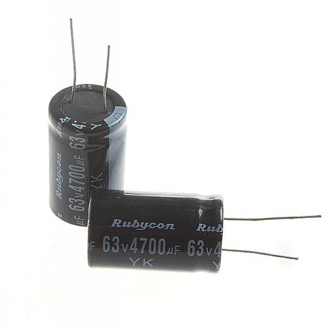 elektrolytisk kondensator 4700uf 63V (2stk)