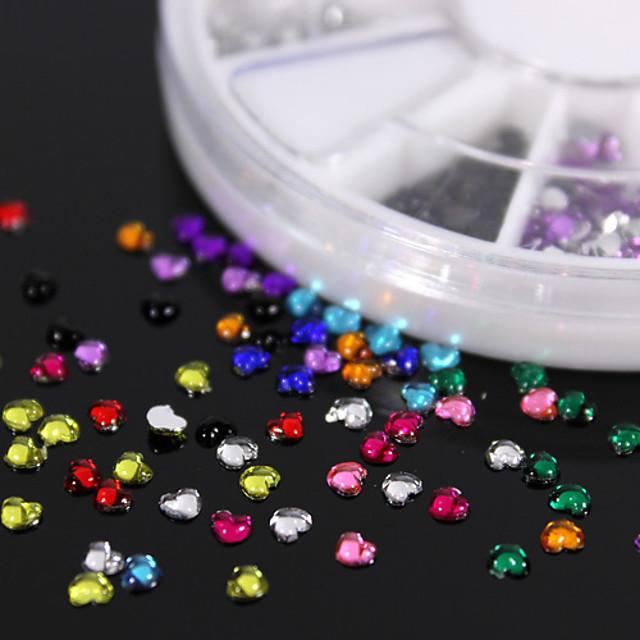 600pcs pietre colorate în formă de piersic, pietre prețioase din acrilice, fabricate manual, din material plastic / accesorii de îmbrăcăminte