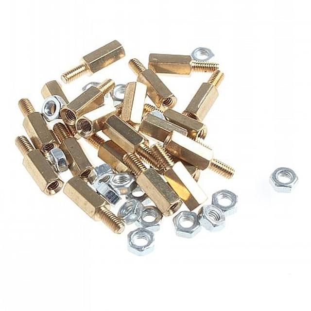 alamă cu filet stand-off piloni șurubul hexagonal cu nuci (m3 x 10mm + 6/20 piese)