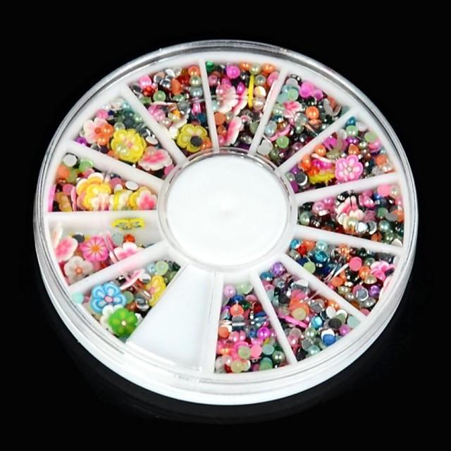1 pcs Nail Art Kit Bijuterie unghii Ștrasuri Încântător nail art pedichiura si manichiura Zilnic Floare / Desen animat / Modă / Unghiul de bijuterii