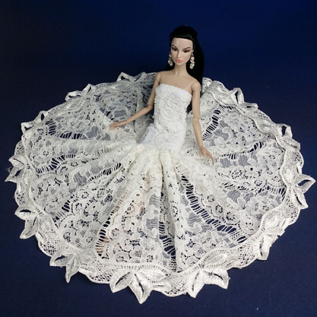 Petrecere / Seară Rochii Pentru Barbiedoll Dantelă / organza Rochie Pentru Fata lui păpușă de jucărie