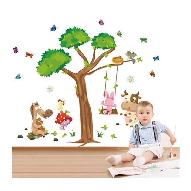 Autocolante de Perete Decorative - Autocolante perete plane Animale / Crăciun / Desene Animate Sufragerie / Dormitor / Baie / Detașabil