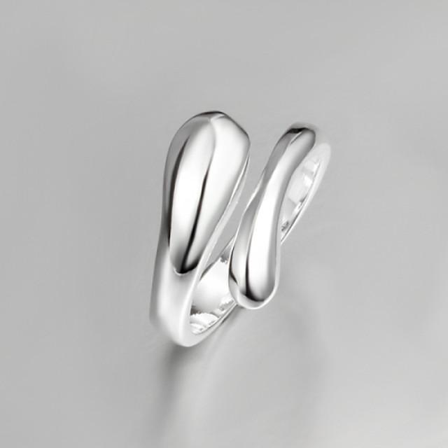 anneau de pouce Écran couleur Argent Argent sterling Argent Goutte Gros Fantaisie Inhabituel unique / Femme