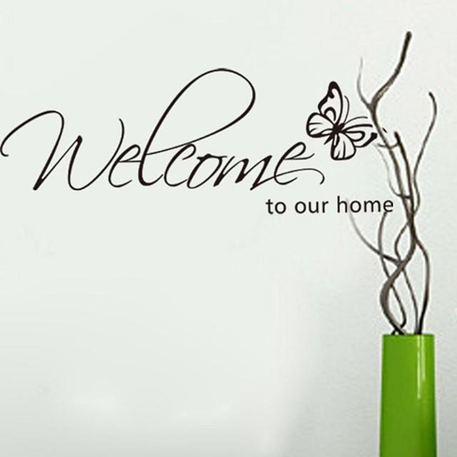 mots& citations stickers muraux mots& citations stickers muraux stickers muraux décoratifs, vinyle décoration de la maison sticker mural décoration murale / amovible 26 * 71 cm