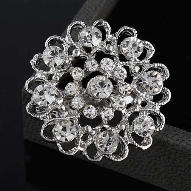 Pentru femei Broșe Inimă Floare femei Modă Ștras Broșă Bijuterii Pentru Nuntă Petrecere Ocazie specială Zi de Naștere Cadou Zilnic