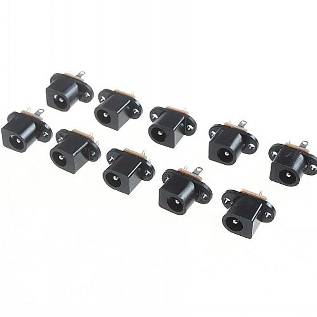 DC017 5.5mm - 2.1mm  Inner Diameter DC Jack Connector (10 Pieces a pack)