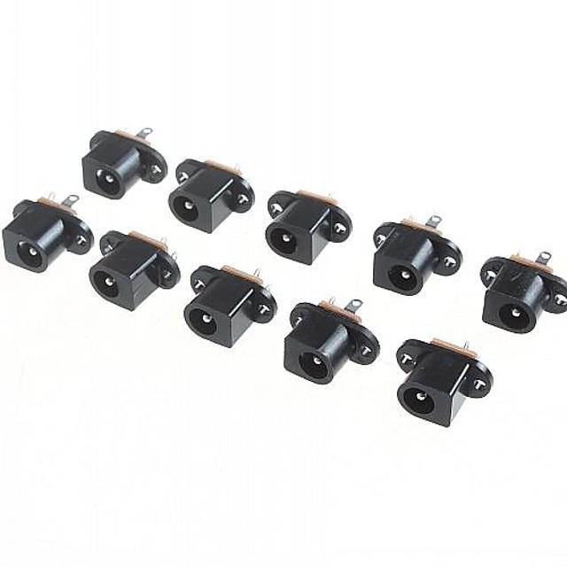 dc017 5.5mm - 2.1MM 내경 직류 잭 커넥터 (10 개 팩)