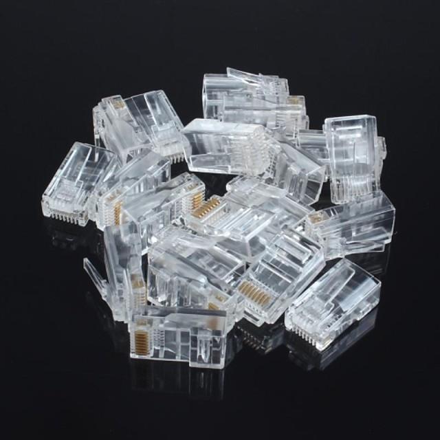 RJ45 neecranat cap de cristal de rețea 8P8C (20buc)