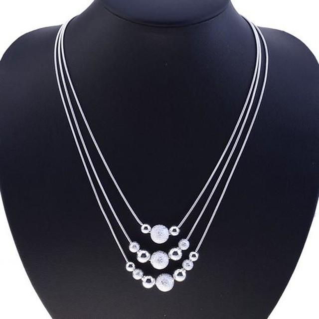 Pentru femei Coliere Colier Plutire Mama fiica Șarpe femei Modă bunică Plastic Argintiu Argintiu Coliere Bijuterii Pentru Petrecere Zilnic Casual