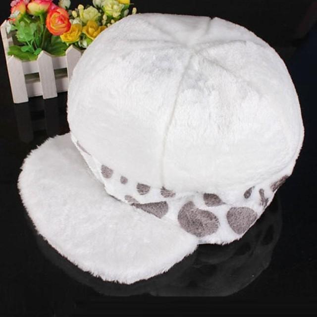 Pălărie / Șapcă Inspirat de One Piece Trafalgar Law Anime Accesorii Cosplay Pălărie Lână polară Bărbați Pentru femei fierbinte Costume de Halloween