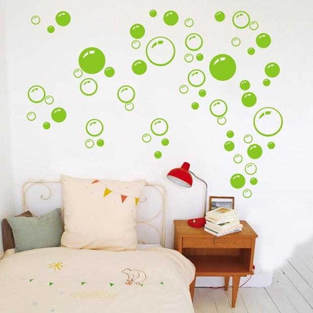 perete autocolante decals de perete, drăguț pvc colorat amovibil de frumusete verde bule de perete autocolante. 1 buc