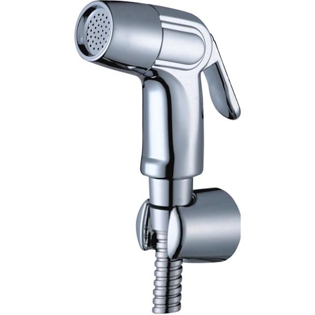 robinet pentru bidet multifuncțional cu suport crom toaletă de mână pulverizator de bidet cu autocurățare contemporan argintiu
