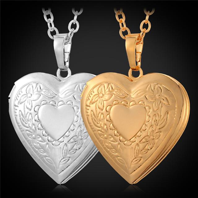 Pentru femei Coliere cu Pandativ Coliere Colier Iubire femei Modă Articole de ceramică Placat Auriu Auriu Coliere Bijuterii Pentru Zilnic Casual