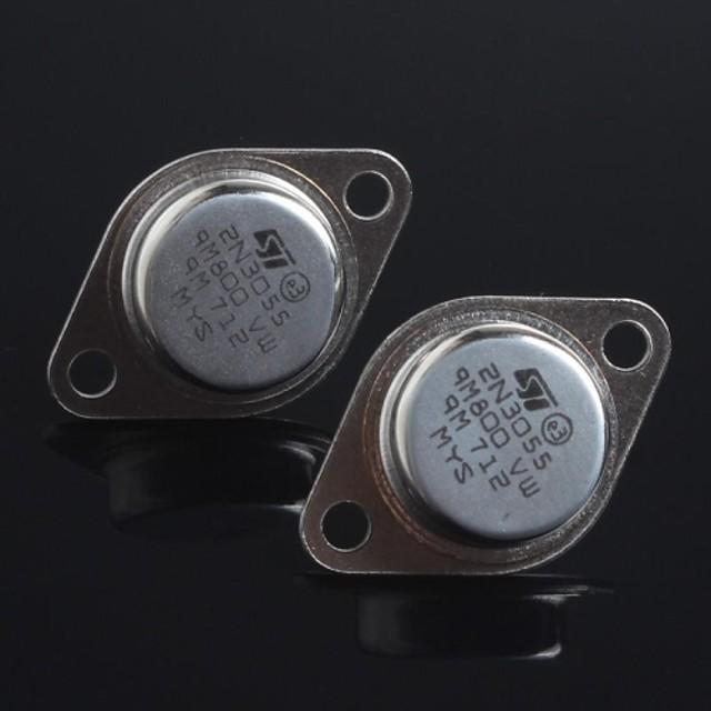 sigiliu de aur 2N3055 tranzistor NPN la 3 (2 buc)
