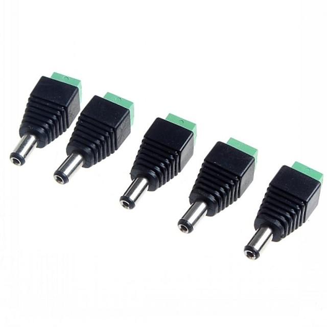 5,5 x 2,1 mm cctv dc zásuvky adaptér (5-pack)