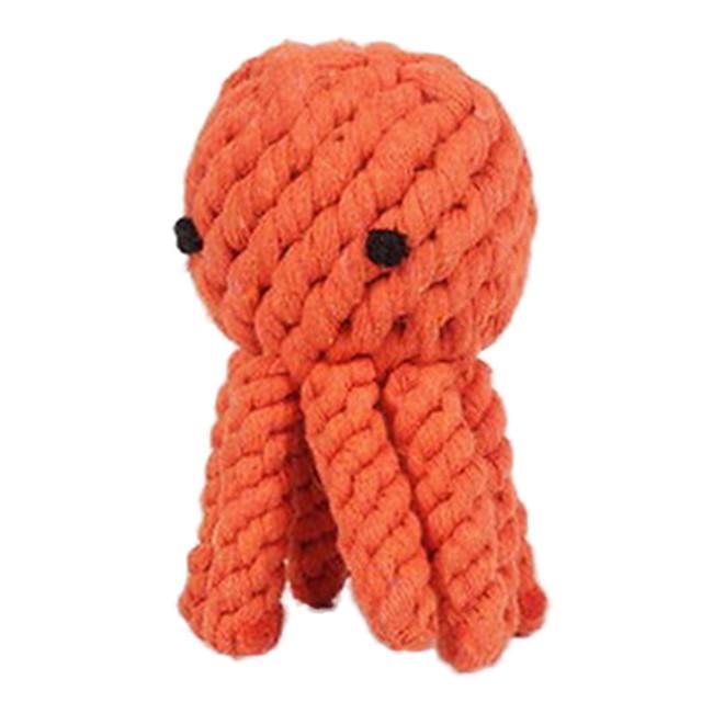 Bal kauwspeeltjes Interactief speelgoed Hondenspeeltje Huisdieren Speeltjes Touw Octopus tekstiili Geschenk