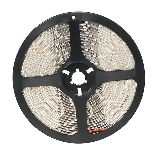 brelong 1 buc 5m flexibile led lumina benzi 300 leds 3528 smd cald alb 12 v