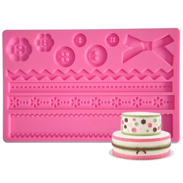 פונדנט כפתור מחצלת סיליקון ארבעה-ג ועובש gumpaste, אספקת עוגת פונדנט כלים עוגת מחצלת להדביק סוכר מחצלת