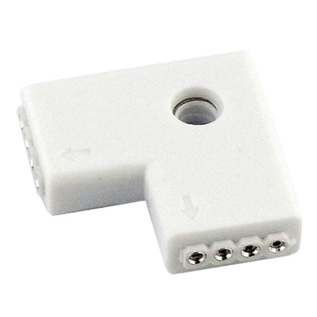 l forma conector cu 4 pini pentru 3538 5050 RGB benzi de lumină (2 bucati)