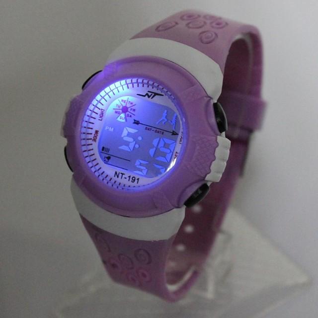 Barn Modeklocka Digital klocka Quartz Digital damer Vardaglig klocka Digital Purpur / Ett år / Silikon / Japanska / Japanska / Ett år