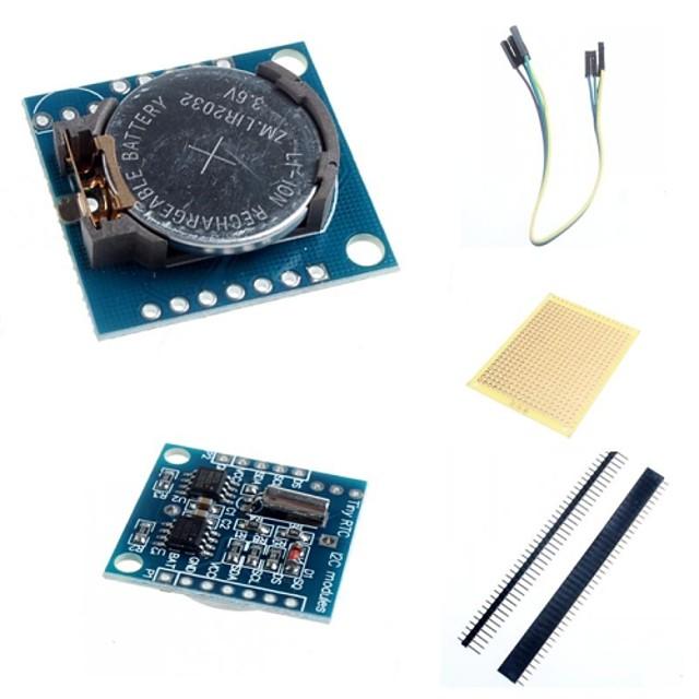 i2c DS1307 tidstro ur modul lille RTC 2560 uno R3 og tilbehør til Arduino